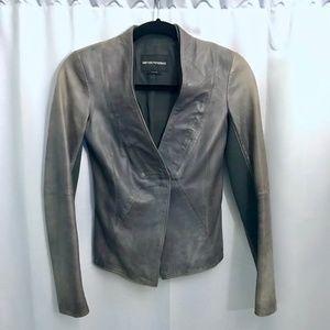 $1825 Emporio Armani Premium leather Blazer Jacket